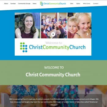 A church website design